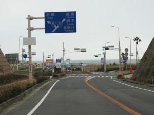 19) 田ノ代交差点を直進